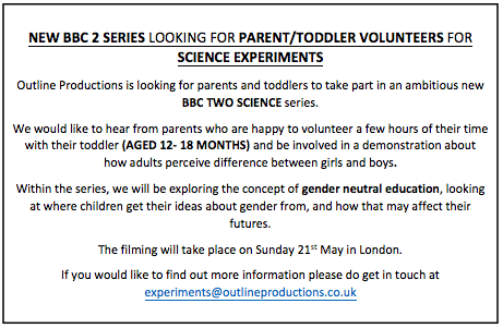 Families needed for new BBC 2 series