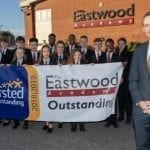 Lord Theodore Agnew, UK schools minister, heaps praise on outstanding Eastwood Academy