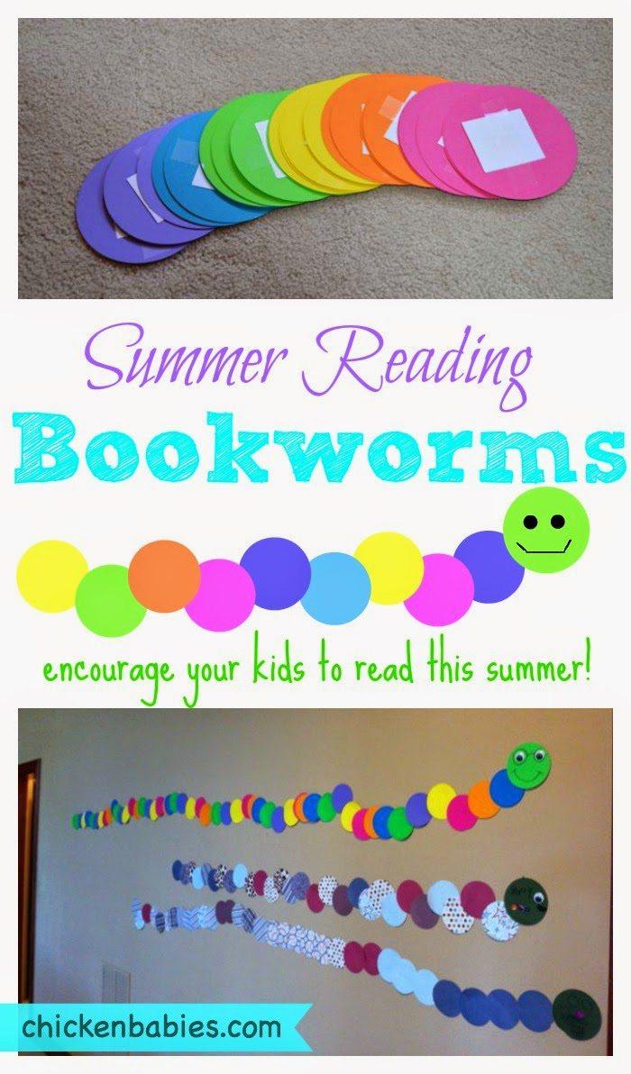 A summer reading bookworm