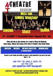 NJ Theatre Academy Summer Musical Theatre Workshop