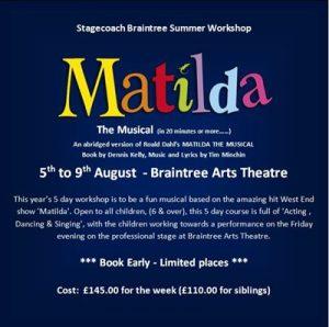 Stagecoach Summer Workshop: Matilda