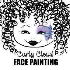 Curly Cloud Face Painting
