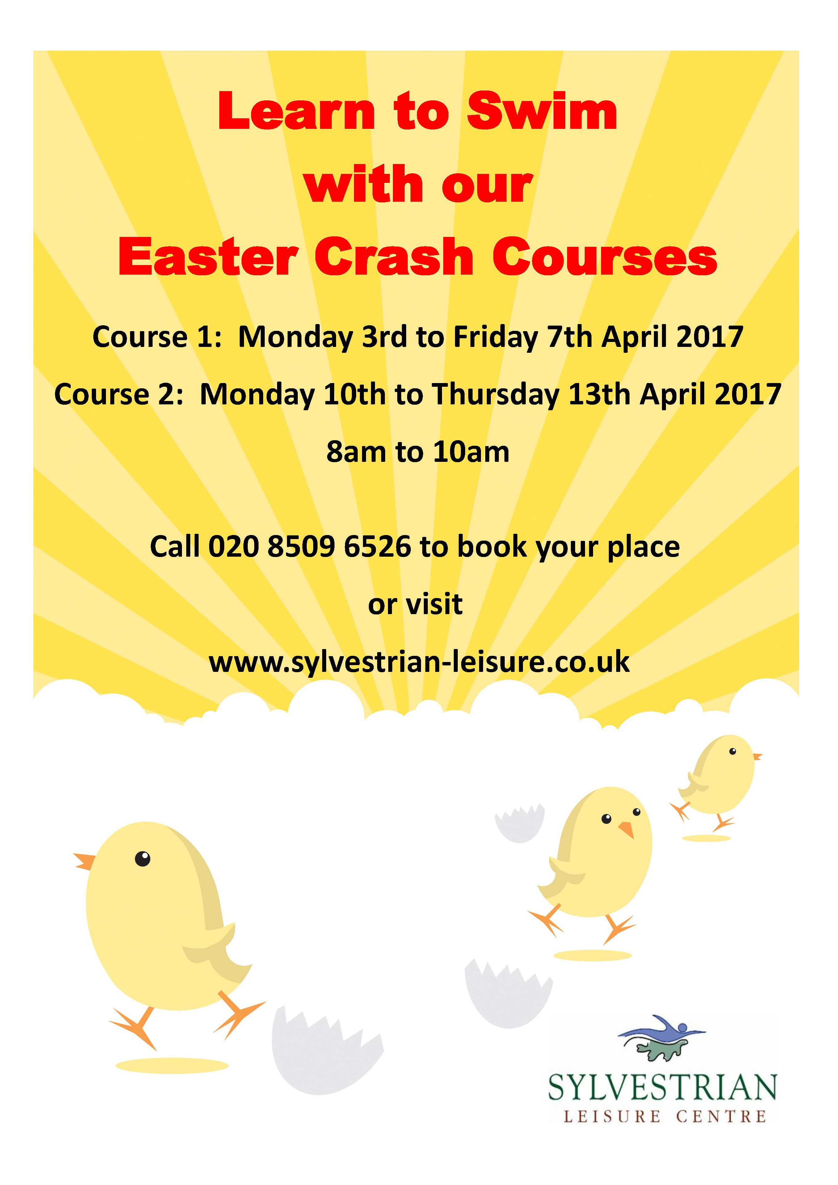 Easter Swimming Lesson Crash Courses