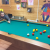 Over 8's log cabin- playing pool