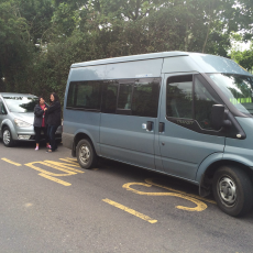 Some of our vehicles on the school run