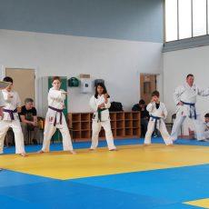 Karate grading.