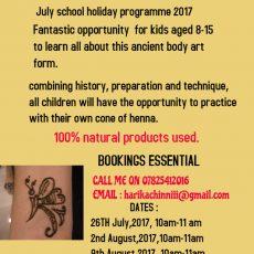 Henna Tattoo classes for kids