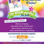 ALL STAR PARTIES FOR KIDS- Dance, Popstar, Princess, Superhero, Facepainting, Character, Pamper