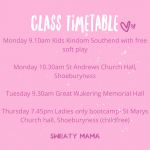 Sweaty Mama fitness class with your child