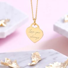 18ct Gold Vermeil Handwriting Necklace