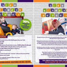 kids kingdom daycare flyer