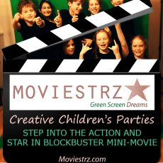 Turn your kid's party into a fun-filled movie studio where they'll create memories that last forever by starring in their own personalised movie.