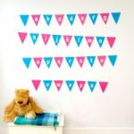 Alphabet Bunting Wall Stickers