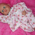 Pink Cherry Pyjamas for Dolls
