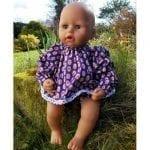 Purple Angel Top & Pants Set for Baby Dolls