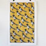 Mischievous Magpie Tea Towel