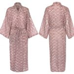 Kimono Style Dressing Gown – Rainbow Brick Red