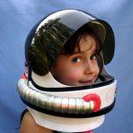 Talking Space Helmet with retractable visor