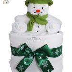 Mini Snowman Nappy Cake