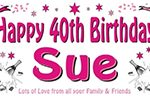 Personalised Birthday Party Banner champagne & stars