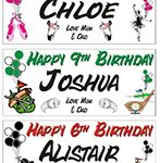 Personalised Birthday Party Banner – Sports