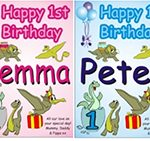 Personalised Birthday Poster A4 up to A1 DINOSAURS