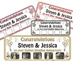 Wedding Anniversary Personalised Banner + own photos