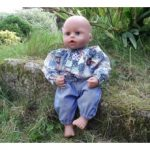 Baby Dolls Blue Patchwork Top and Jeans Set