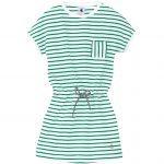 Girl's short-sleeved cotton dress with little sailor stripes