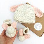 Baby Bunny Crochet Gift Set
