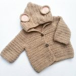 Crocheted Baby Mouse Cardigan