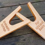Solid Oak Engraved Boot Jack, Muddy Boot / Welly Remover
