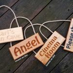 Personalisable Solid Oak Engraved Hanging Sign