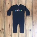 Personalised Black Babygrow