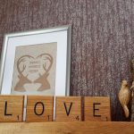 Giant Novelty Solid Oak Scrabble Letters Wall Art