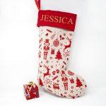 Personalised Festive Nordic Design Christmas Stocking