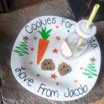 Personalised Bespoke Santa Cookie Plate