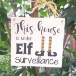 Personalised Elf Surveillance Wooden Plaque