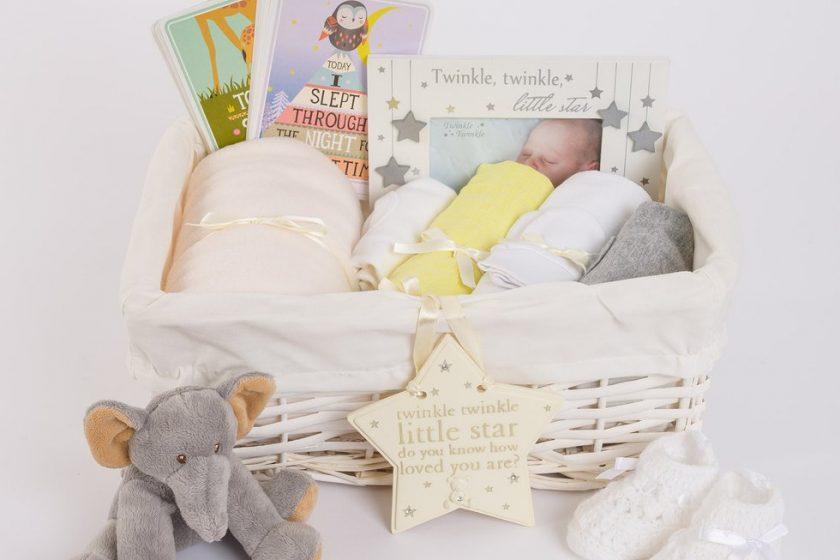 0706312dd709 Neutral Baby Gift Basket - Gender Neutral Baby Hamper