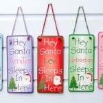 Hey Santa Door Plaque