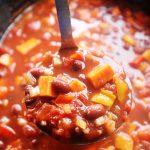 Slow Cooked Sweet Potato Chilli