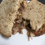 Sticky left over lamb sandwiches