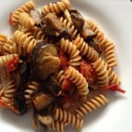 Roasted Aubergines and Fresh Tomato Pasta