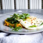 Carrot & sweet potato breakfast rostis