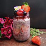 Strawberry oat and chia with compote