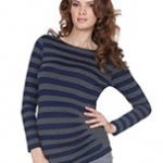 Seraphine Striped Side Pleat Top