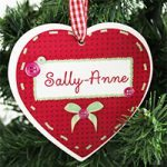 Button Name Christmas Heart Decoration from Utterly Personal