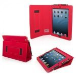 Snugg iPad 4 Case Cover and Flip Stand in Red Leather