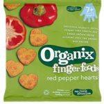 Organix Finger Food Red Pepper Hearts