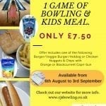 Meal Deal at CJ's Bowling